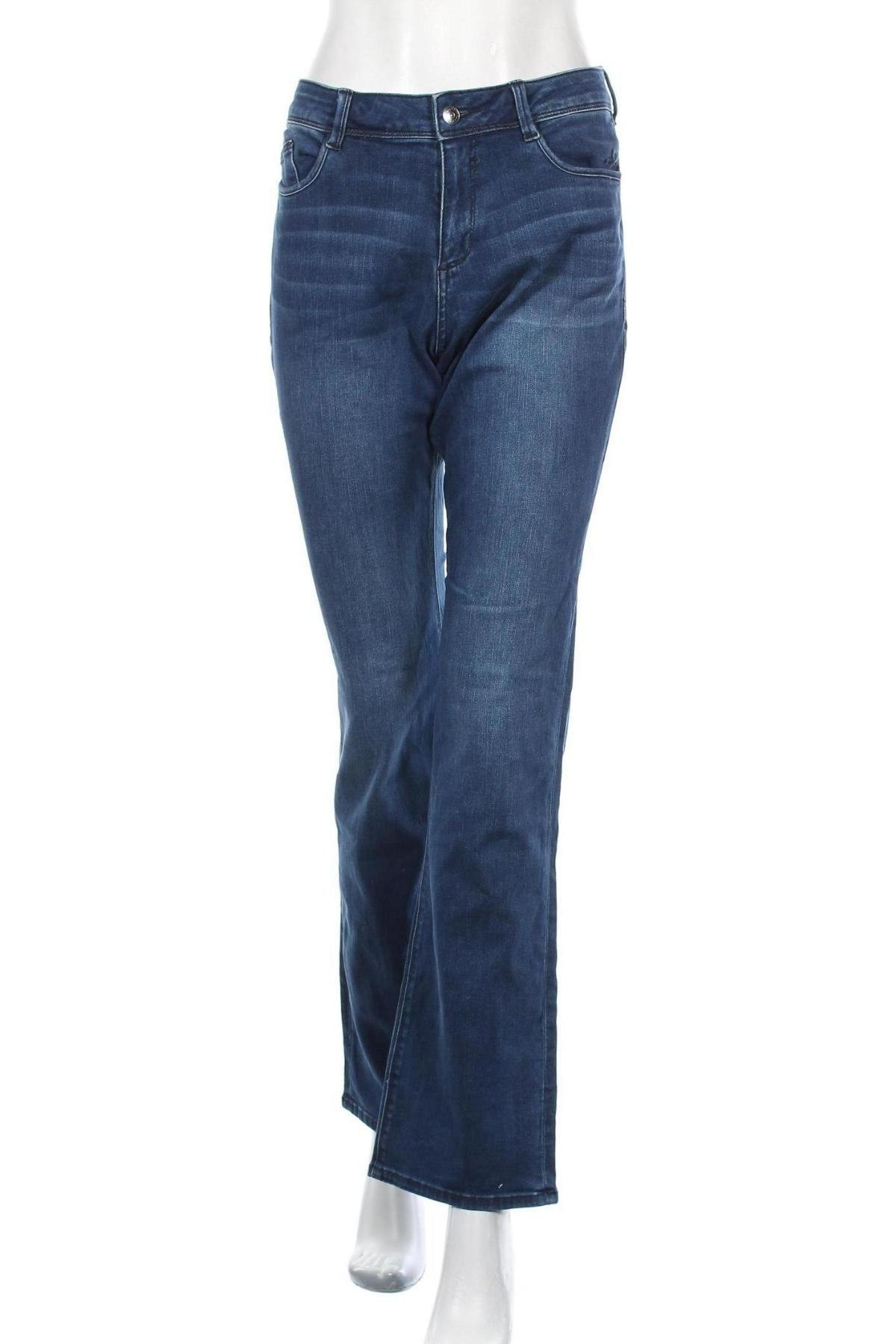 Дамски дънки S.Oliver, Размер M, Цвят Син, 91% памук, 7% полиестер, 2% еластан, Цена 28,20лв.