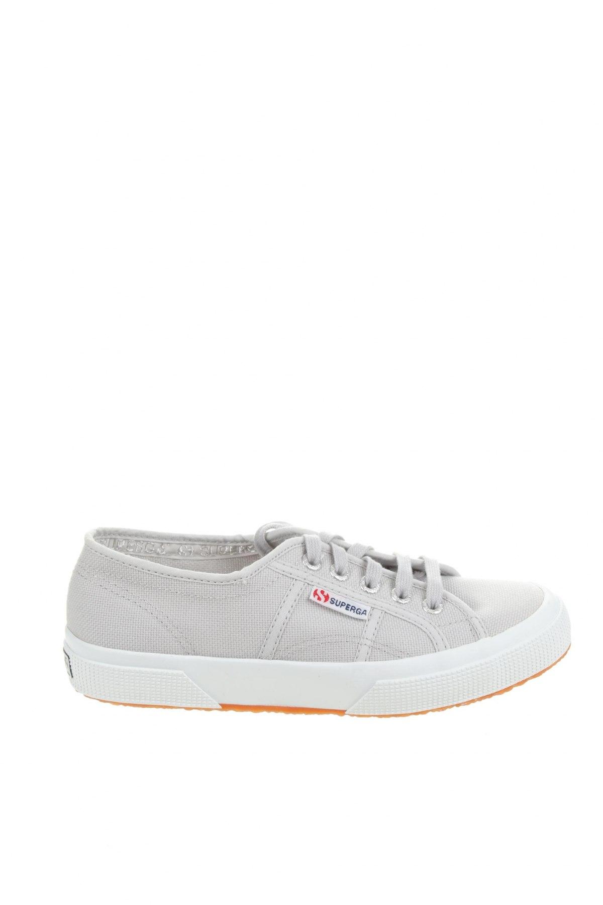 Дамски обувки Superga, Размер 37, Цвят Сив, Текстил, Цена 89,25лв.