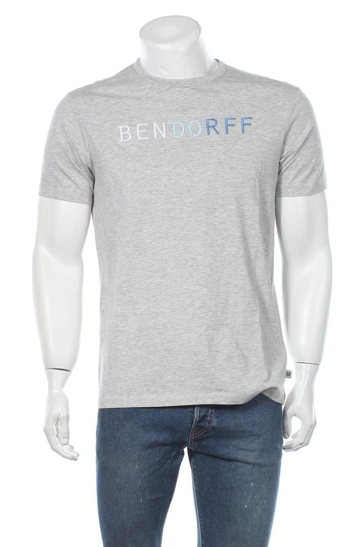 Мъжка тениска Bendorff, Размер M, Цвят Сив, 95% памук, 5% еластан, Цена 21,75лв.