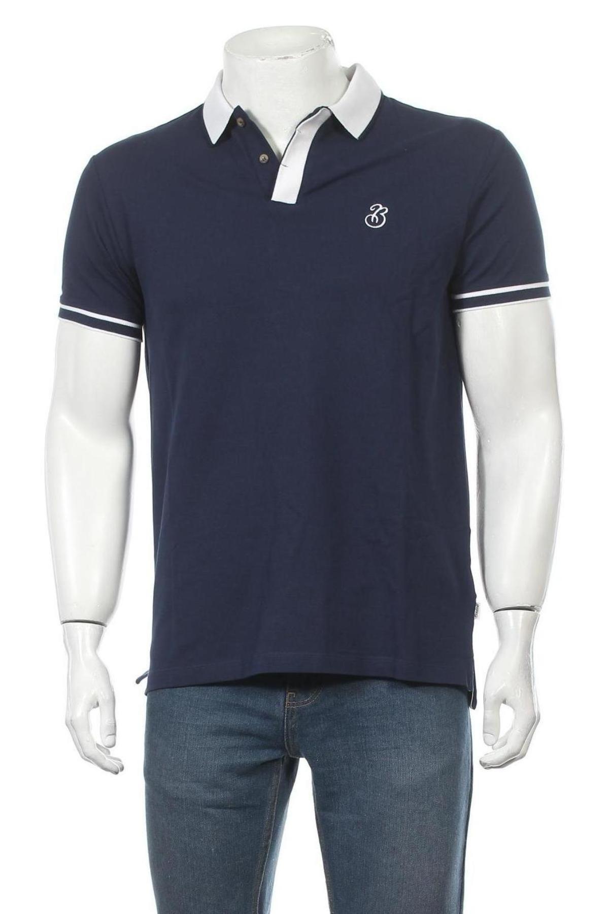 Мъжка тениска Bendorff, Размер M, Цвят Син, Памук, Цена 24,32лв.
