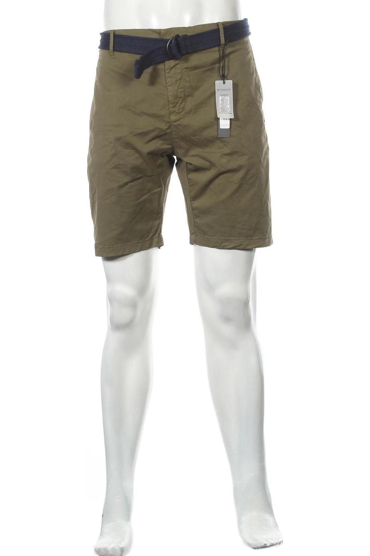 Мъжки къс панталон Dstrezzed, Размер L, Цвят Зелен, 98% памук, 2% еластан, Цена 32,90лв.