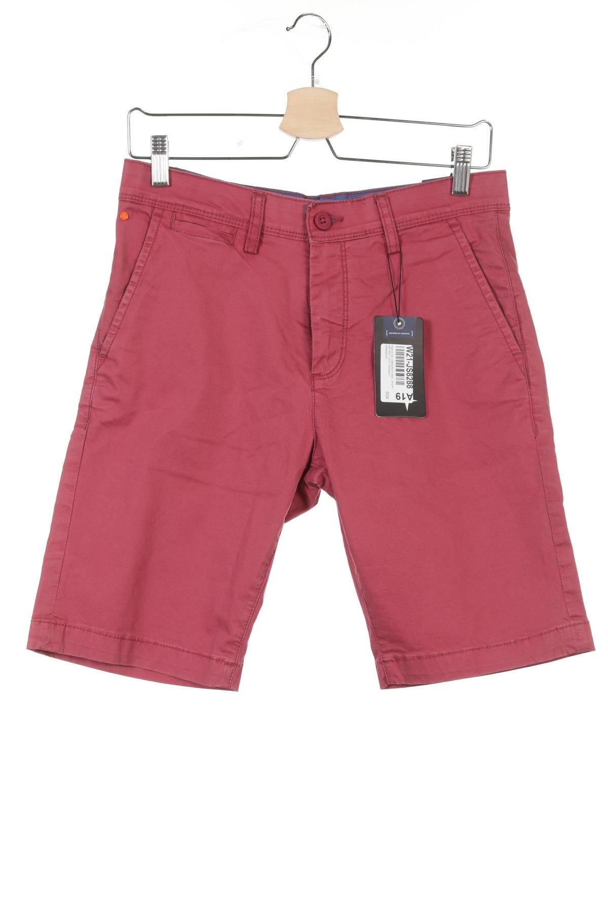 Мъжки къс панталон Haze&Finn, Размер S, Цвят Розов, 98% памук, 2% еластан, Цена 16,18лв.
