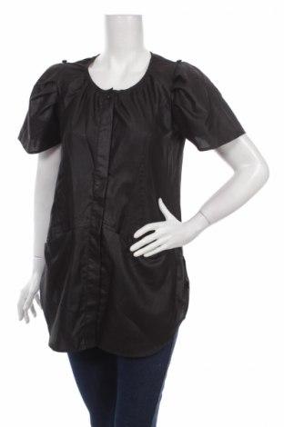 Дамска риза Free Quent, Размер S, Цвят Черен, 65% полиестер, 35% памук, Цена 6,50лв.