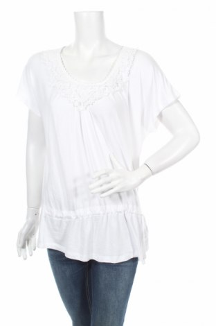 Дамска блуза Atlas For Women, Размер L, Цвят Бял, 95% вискоза, 5% еластан, Цена 6,00лв.