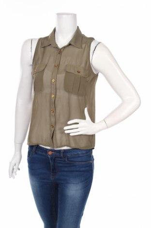 Дамска риза Charlotte Russe, Размер S, Цвят Зелен, Полиестер, Цена 5,50лв.
