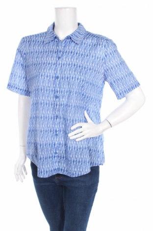 Дамска риза Chico's, Размер M, Цвят Син, Памук, Цена 7,20лв.