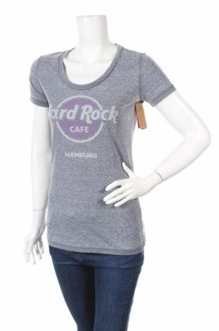 Γυναικείο t-shirt Hard Rock Cafe, Μέγεθος M, Χρώμα Γκρί, 55% βαμβάκι, 45% πολυεστέρας, Τιμή 6,43€