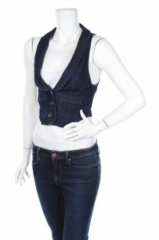 Γυναικείο γιλέκο Highway Jeans, Μέγεθος S, Χρώμα Μπλέ, 75% βαμβάκι, 23% πολυεστέρας, 2% ελαστάνη, Τιμή 5,96€