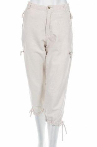 Дамски панталон Marc Lauge, Размер M, Цвят Бежов, 55% лен, 45% памук, Цена 6,81лв.