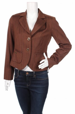 Дамско сако Biba, Размер S, Цвят Кафяв, 96% памук, 4% еластан, Цена 9,60лв.