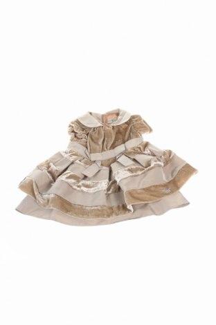 Rochie de copii Armani Baby, Mărime 3-6m/ 62-68 cm, Culoare Maro, 72% viscoză, 28% mătase, Preț 135,19 Lei