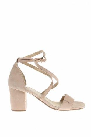 Sandale Zign, Mărime 38, Culoare Roz, Velur natural, Preț 77,16 Lei