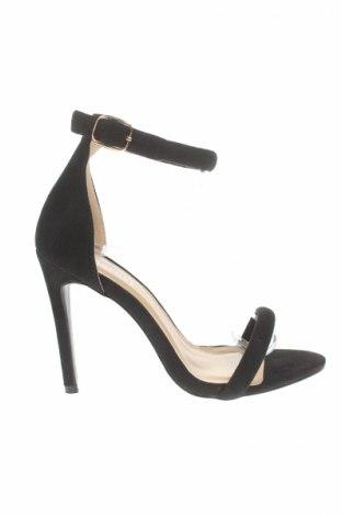 Sandale Glamorous, Mărime 38, Culoare Negru, Textil, Preț 42,59 Lei