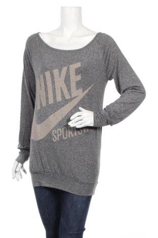 Дамска блуза Nike, Размер M, Цвят Сив, 94% вискоза, 6% еластан, Цена 13,44лв.