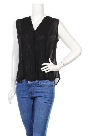Дамска риза H&M, Размер M, Цвят Черен, Полиестер, Цена 8,40лв.