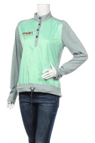 Дамска спортна блуза Adidas, Размер M, Цвят Зелен, Полиестер, еластан, Цена 12,29лв.