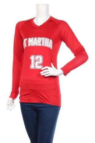 Дамска спортна блуза Augusta, Размер M, Цвят Червен, 92% полиестер, 8% еластан, Цена 4,99лв.