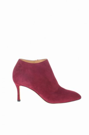 Γυναικεία μποτάκια Sergio Rossi, Μέγεθος 37, Χρώμα Κόκκινο, Φυσικό σουέτ, Τιμή 141,79€