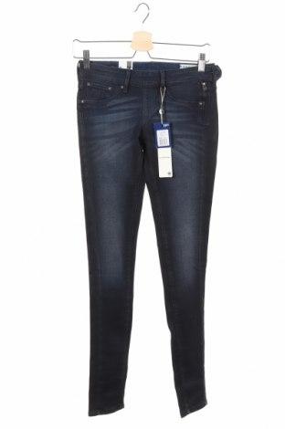 Дамски дънки G-Star Raw, Размер XS, Цвят Син, 90% памук, 8% полиестер, 2% еластан, Цена 34,32лв.