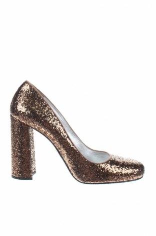 Γυναικεία παπούτσια Prada, Μέγεθος 39, Χρώμα Χρυσαφί, Κλωστοϋφαντουργικά προϊόντα, Τιμή 337,10€