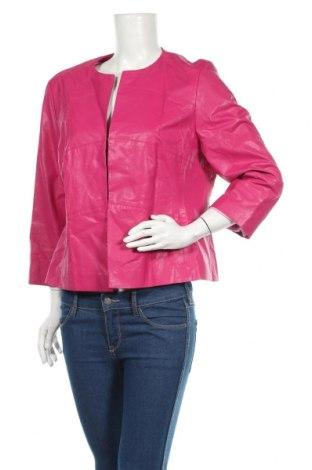 Damska kurtka skórzana, Rozmiar XL, Kolor Różowy, Eko skóra, Cena 99,75zł