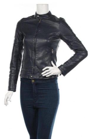 Γυναικείο δερμάτινο μπουφάν Jennyfer, Μέγεθος XS, Χρώμα Μπλέ, Δερματίνη, Τιμή 27,15€