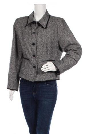 Дамско палто Promiss, Размер L, Цвят Сив, 40% вълна, 30% полиестер, 30% акрил, Цена 51,87лв.