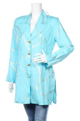 Дамско сако Pompoos Design By Harald Gloockler, Размер M, Цвят Син, 100% лен, Цена 31,05лв.
