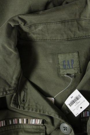 Дамско яке Gap, Размер XS, Цвят Зелен, 97% памук, 3% еластан, Цена 35,60лв.