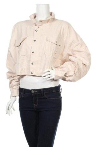 Дамско яке Pretty Little Thing, Размер XXL, Цвят Бежов, 100% памук, Цена 20,80лв.