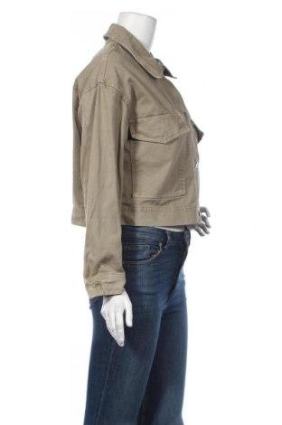 Дамско яке Zara, Размер S, Цвят Зелен, 100% памук, Цена 32,80лв.