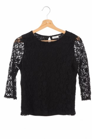 Детска блуза Design By Kappahl, Размер 14-15y/ 168-170 см, Цвят Черен, 60% памук, 40% полиамид, полиестер, Цена 4,73лв.