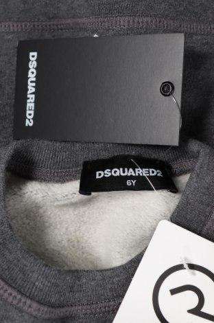 Детска блуза Dsquared2, Размер 5-6y/ 116-122 см, Цвят Сив, 100% памук, Цена 119,25лв.