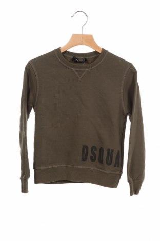 Детска блуза Dsquared2, Размер 5-6y/ 116-122 см, Цвят Зелен, 100% памук, Цена 81,12лв.
