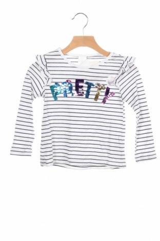 Детска блуза Palomino, Размер 3-4y/ 104-110 см, Цвят Бял, 100% памук, Цена 20,80лв.