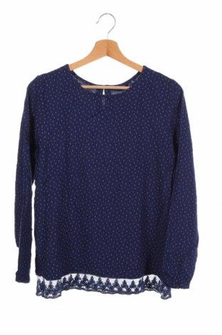 Детска блуза Tom Tailor, Размер 15-18y/ 170-176 см, Цвят Син, Вискоза, Цена 6,30лв.