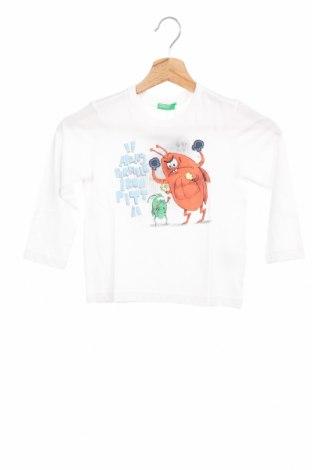 Детска блуза United Colors Of Benetton, Размер 3-4y/ 104-110 см, Цвят Бял, Памук, Цена 18,02лв.