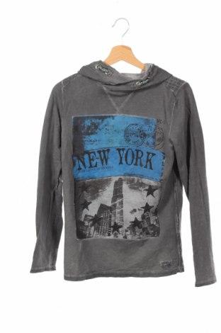 Детска блуза Vingino, Размер 13-14y/ 164-168 см, Цвят Сив, Памук, Цена 6,62лв.