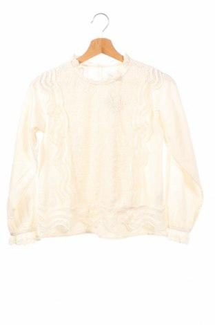 Детска блуза Zara, Размер 9-10y/ 140-146 см, Цвят Екрю, Полиестер, Цена 6,60лв.