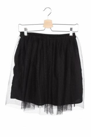 Детска пола H&M, Размер 12-13y/ 158-164 см, Цвят Черен, 100% полиестер, Цена 6,27лв.
