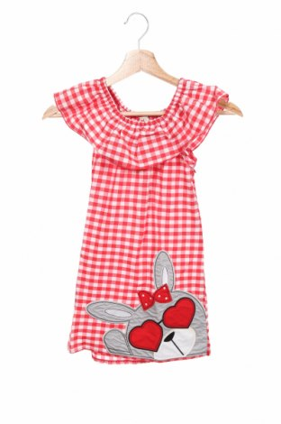 Детска рокля Deno, Размер 4-5y/ 110-116 см, Цвят Червен, Памук, Цена 28,50лв.