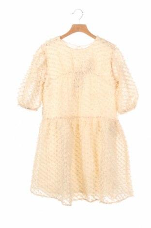 Детска рокля Zara, Размер 11-12y/ 152-158 см, Цвят Екрю, Полиестер, Цена 10,50лв.