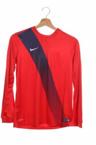 Детска спортна блуза Nike, Размер 10-11y/ 146-152 см, Цвят Червен, Полиестер, Цена 25,30лв.