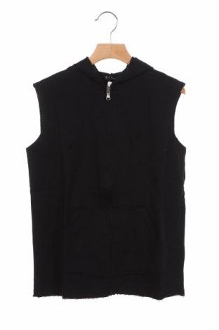 Детски суичър Sisley, Размер 8-9y/ 134-140 см, Цвят Черен, 100% памук, Цена 10,92лв.