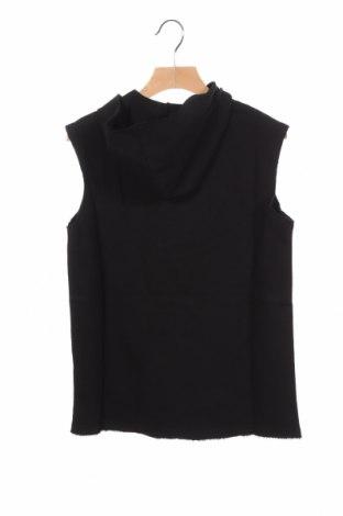 Детски суичър Sisley, Размер 8-9y/ 134-140 см, Цвят Черен, 100% памук, Цена 12,21лв.