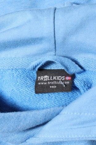 Детски суичър Trollkids, Размер 3-4y/ 104-110 см, Цвят Син, Памук, Цена 29,92лв.