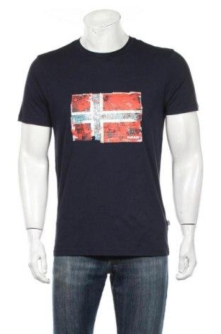 Ανδρικό t-shirt Napapijri, Μέγεθος M, Χρώμα Μπλέ, Βαμβάκι, Τιμή 28,95€