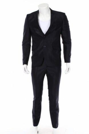 Ανδρικό κοστούμι, Μέγεθος M, Χρώμα Μπλέ, 60% μαλλί, 25% βισκόζη, 15% πολυεστέρας, Τιμή 30,55€