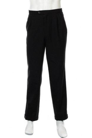 Мъжки панталон Atelier GARDEUR, Размер L, Цвят Черен, Вълна, Цена 8,93лв.
