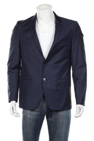 Męska marynarka Lagerfeld, Rozmiar L, Kolor Niebieski, 86% wełna, 10% poliamid, 4% elastyna, Cena 153,90zł